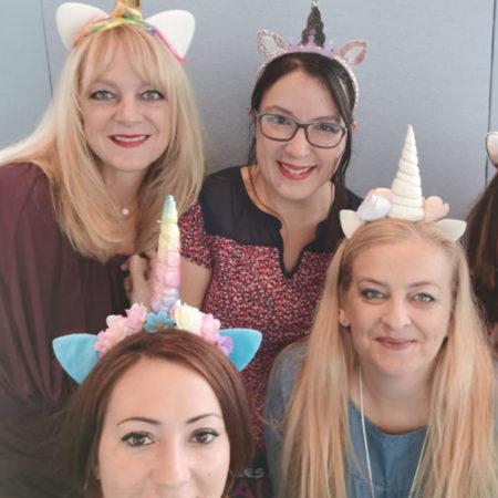 Photo de la team présente aux salons de loisirs créatifs