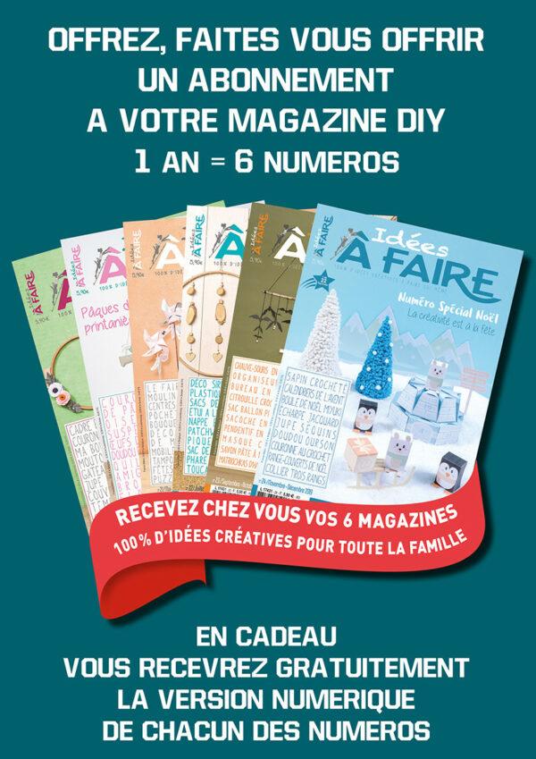 Abonnement Idées à Faire magazine 1 an