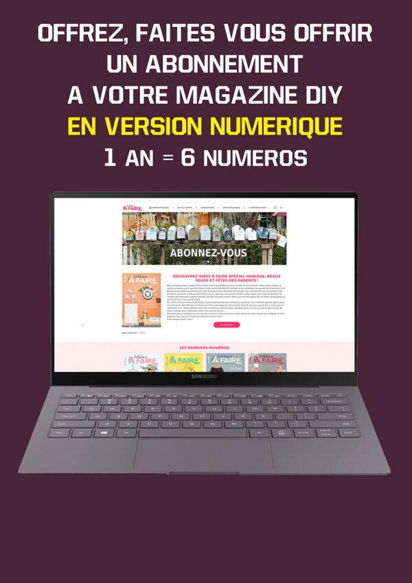Abonnement Idées à Faire magazine version pdf