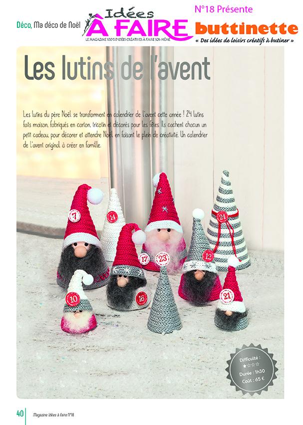 Lutins de Noël (IAF 18)   Idées à Faire magazine   calendrier de l