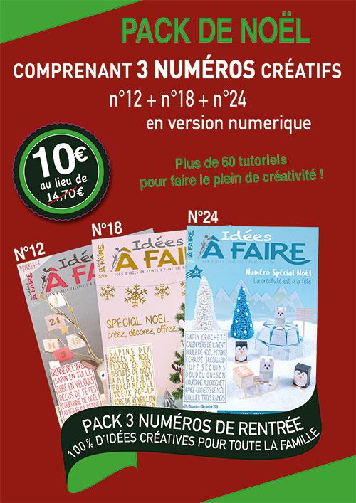 Pack numéro de Noël Idées à Faire